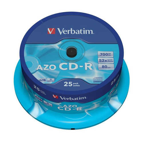 דיסק לצריבה CD-R 700mb Cake Verbatim 25pcs
