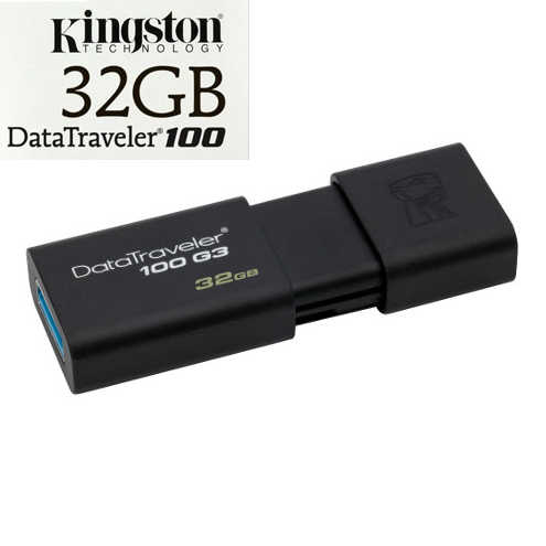 זכרון נייד USB 3.0 32GB תוצרת Kingston דגם DT100
