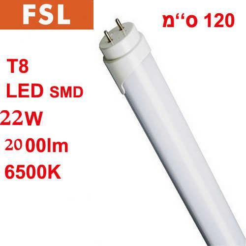 מאוד נורות - נורת פלורסנט לד 120 ס''מ T8 22W לבן FSL XW-76