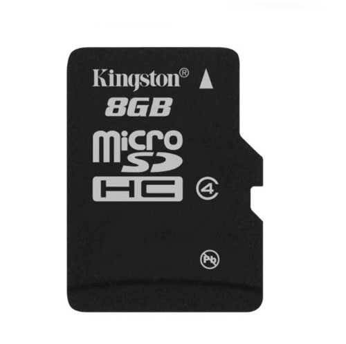 כרטיס זיכרון Micro SDHC 8GB Class 4 Kingston