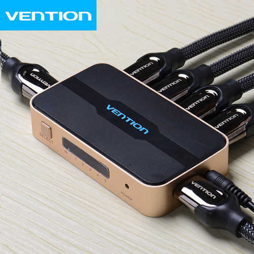 ממתג 5 יציאות Vention HDMI 1.4 דגם ACDGO