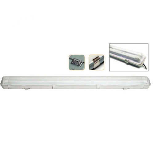 מאוד גופי תאורה - גוף תאורה מוגן מים 2x24W DL כולל 2 נורות פלורסנט לד FSL PX-48