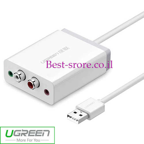 כבל ממיר Ugreen USB - RCAx2 3.5mm